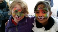 facepaint rainbow cat schmink kat
